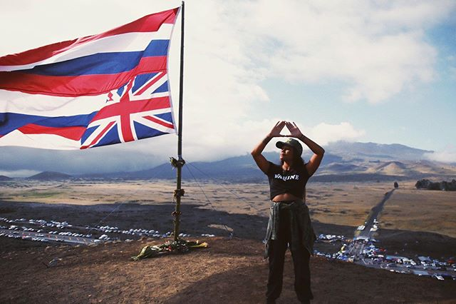 """No ku'u lahui e hā'awi pau a i ola mau - For my nation I give my all so that our legacy lives on."" - @kumuhina 