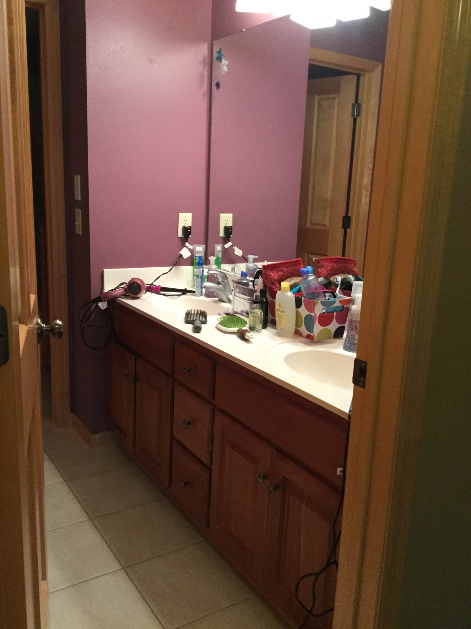 Copy of Bathroom Remodel Vanity - Before Photo