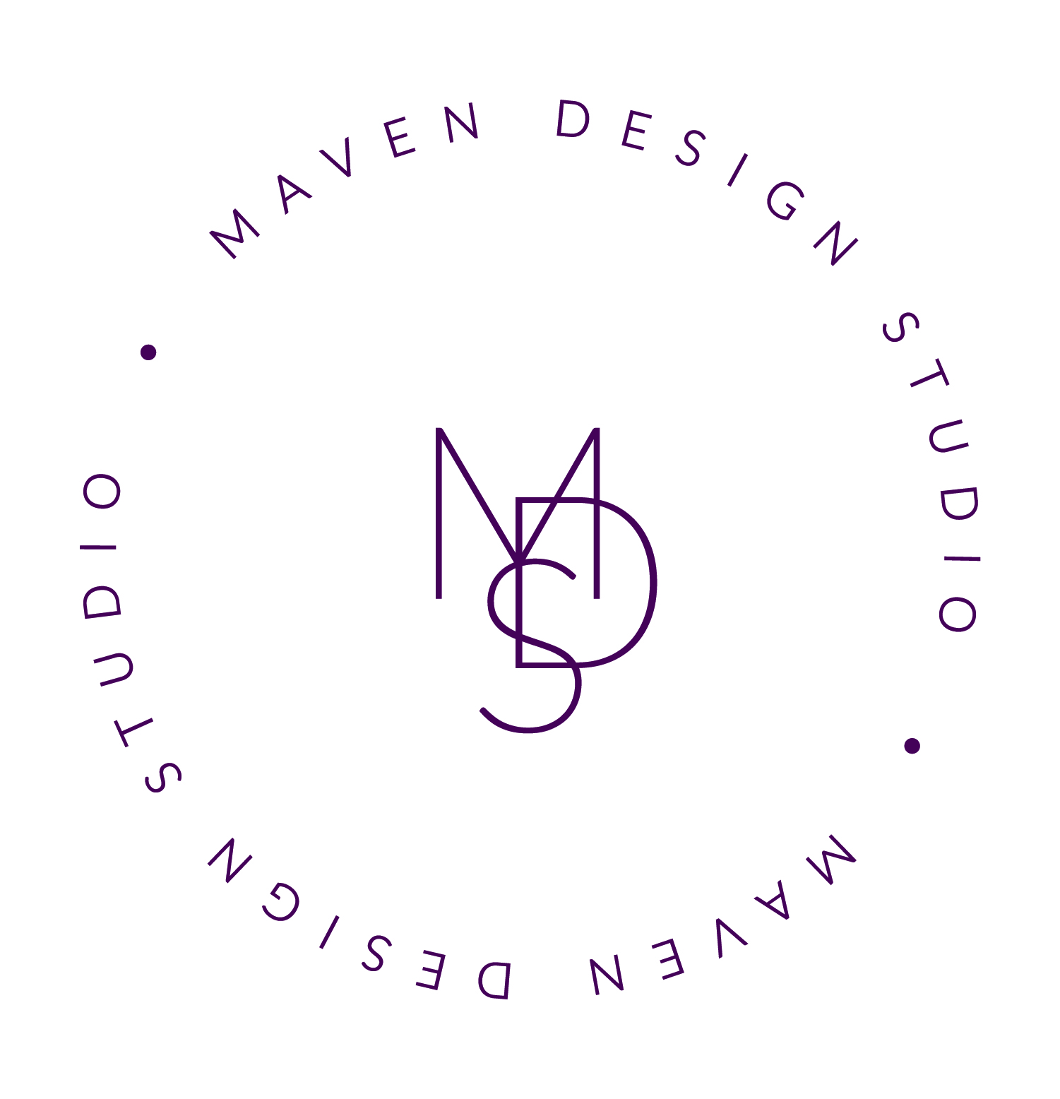 Maven Design Studio Watermark Logo Design - Interior Designer Twin Cities