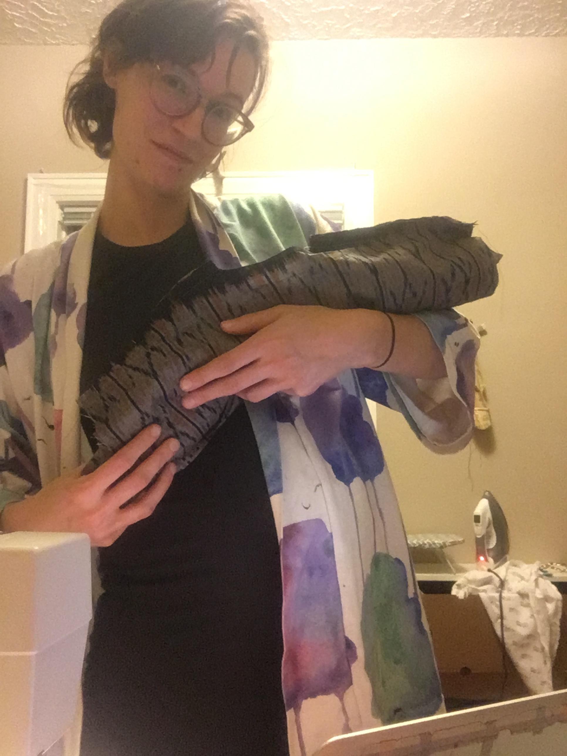 hugging my burrito roll shirt