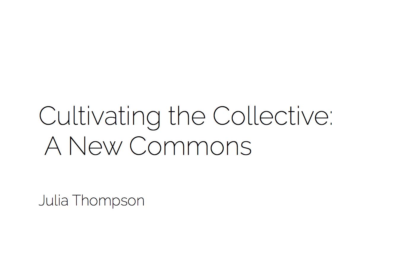 A Look At Creative Collaborative Societies