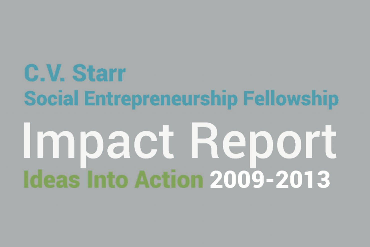 Social Innovation Initiative Impact Report
