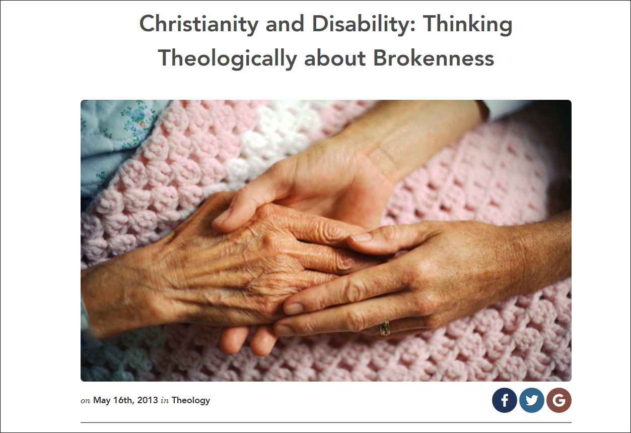 Christianity and Disability