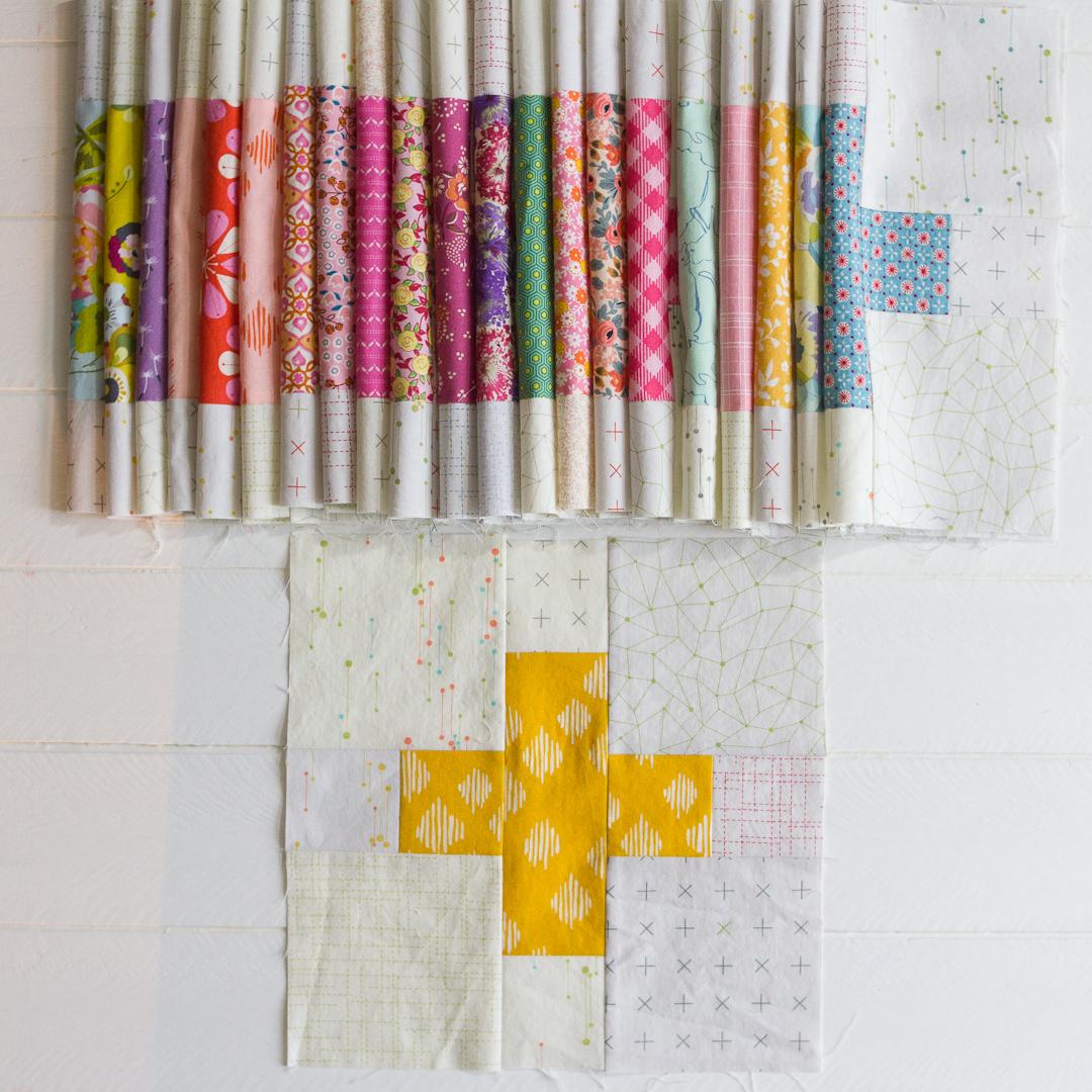 Plus Block Quilt-Along Quilt Blocks via www.helloquilting.com