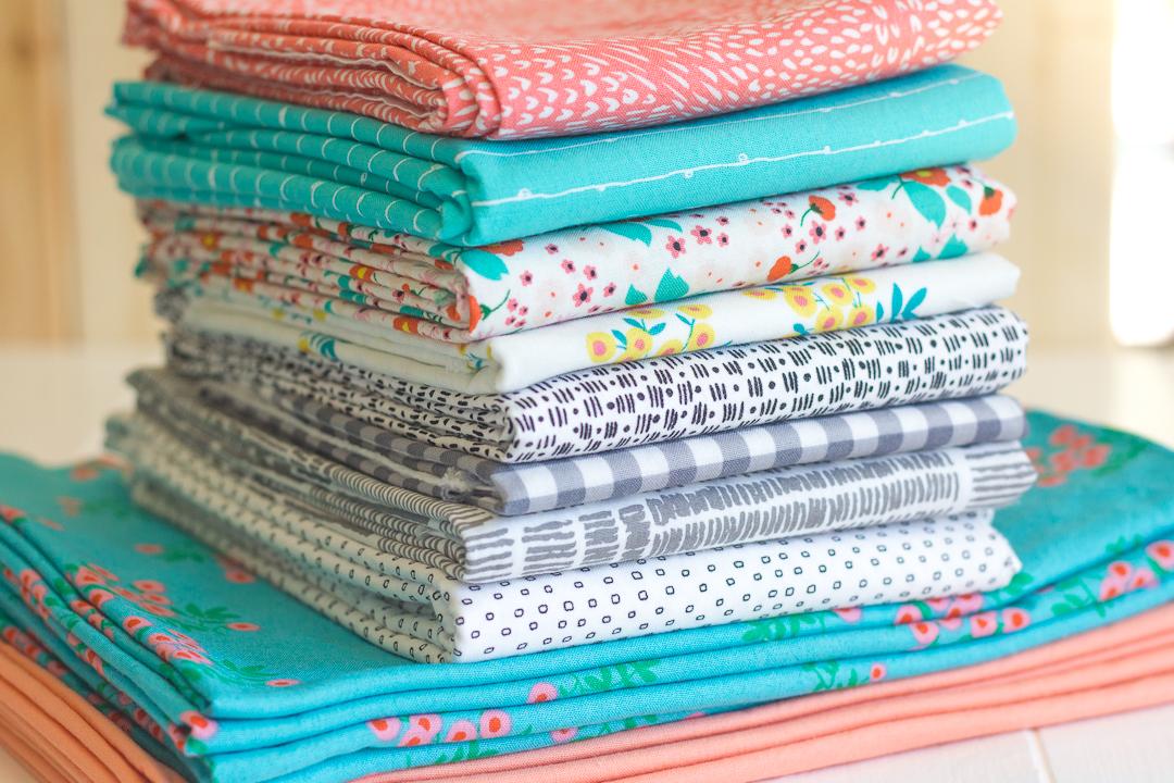 Sweet Prairie Churn Dash Quilt Fabric Pull via www.helloquilting.com