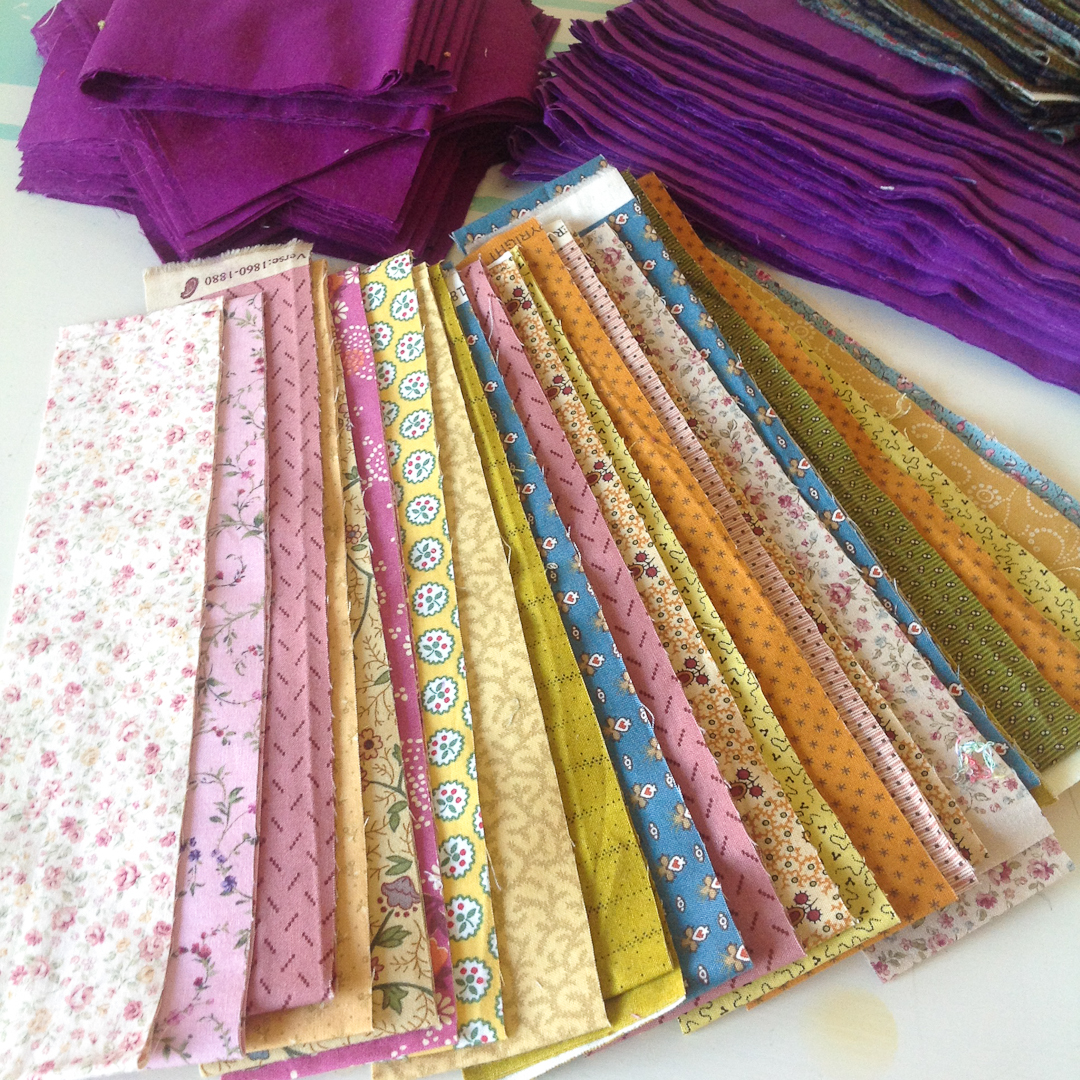 Fabric for the Purple Irish Chain via www.helloquilting.com