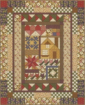 Thimbleberries 2007 Block of the Month Quilt via www.helloquilting.com