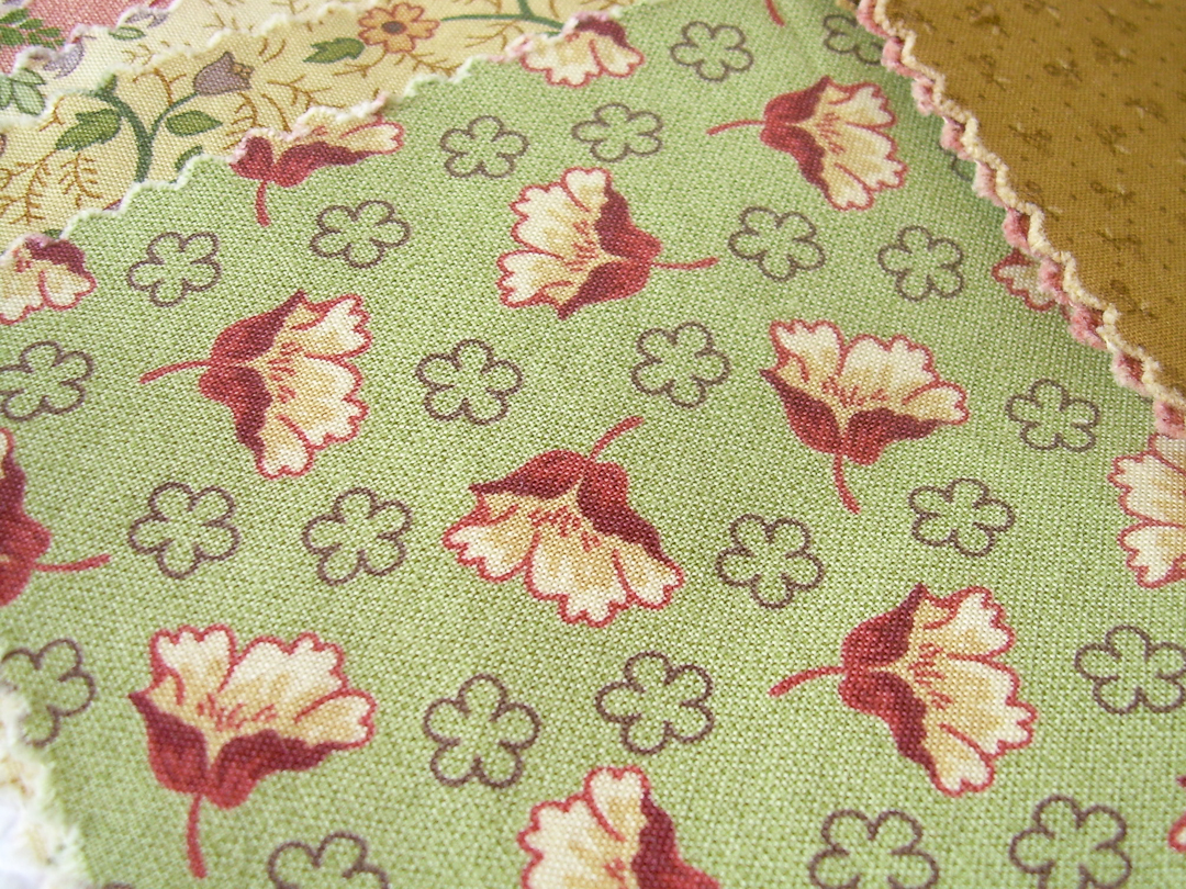 Thimbleberries House & Garden Sage Floral Fabric via www.helloquilting.com