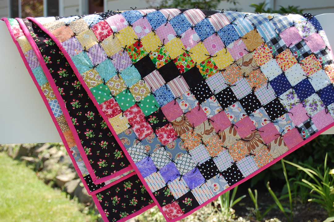 Antique-Inspired Scrappy Trip-Around-the-World Quilt via www.helloquilting.com