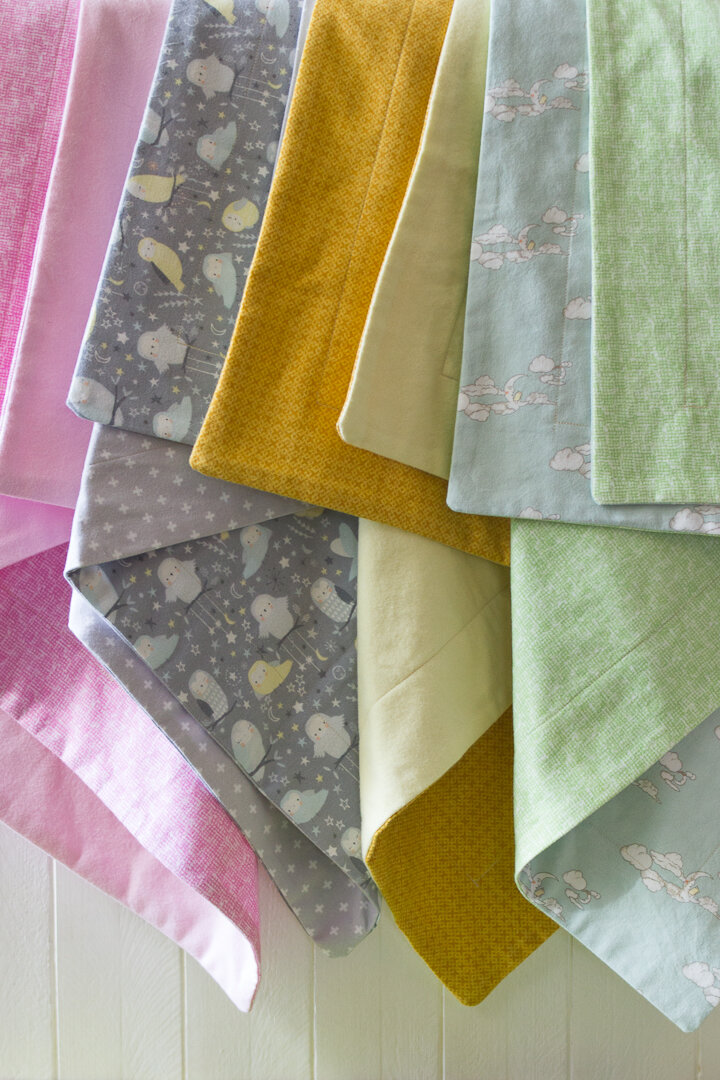 How To Make A Flannel Baby Receiving Blanket Simple Creative Home