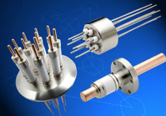 Electrical Feedthroughs - Voltage Range:  0 – 1250 VCurrent Range: 0 - 1000 AmpsShell/ body: Stainless steelSealing/insulation: Alumina ceramicNo of conductors: 1, 2,3, 4,5,6,8,10,12, 41, customMount type:  CF, KF, NPT, WELD