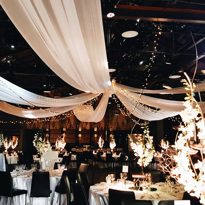 do it yourself wedding ceiling draping