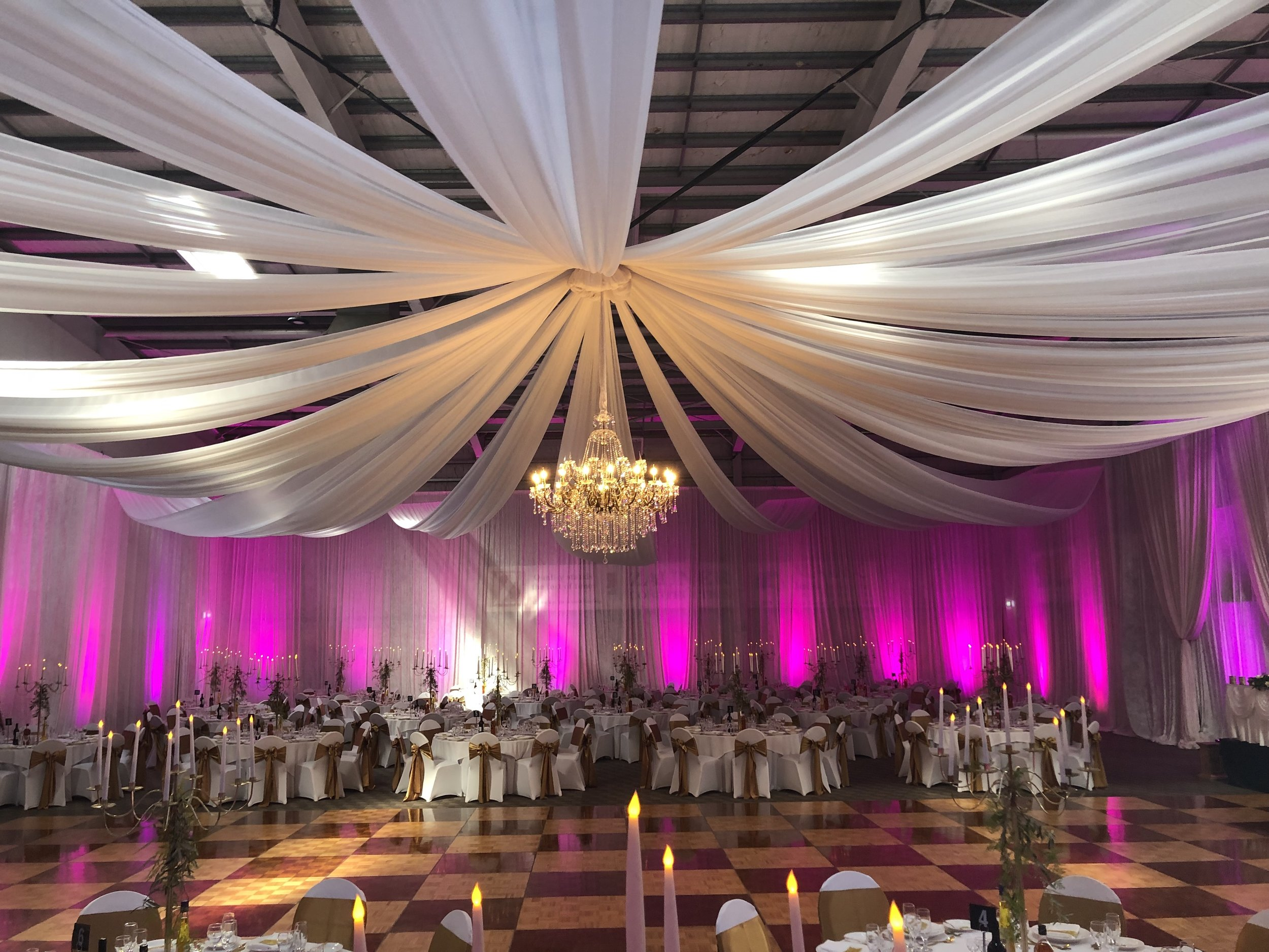 A dance floor highlighted the space as this couple wanted you to dance! -