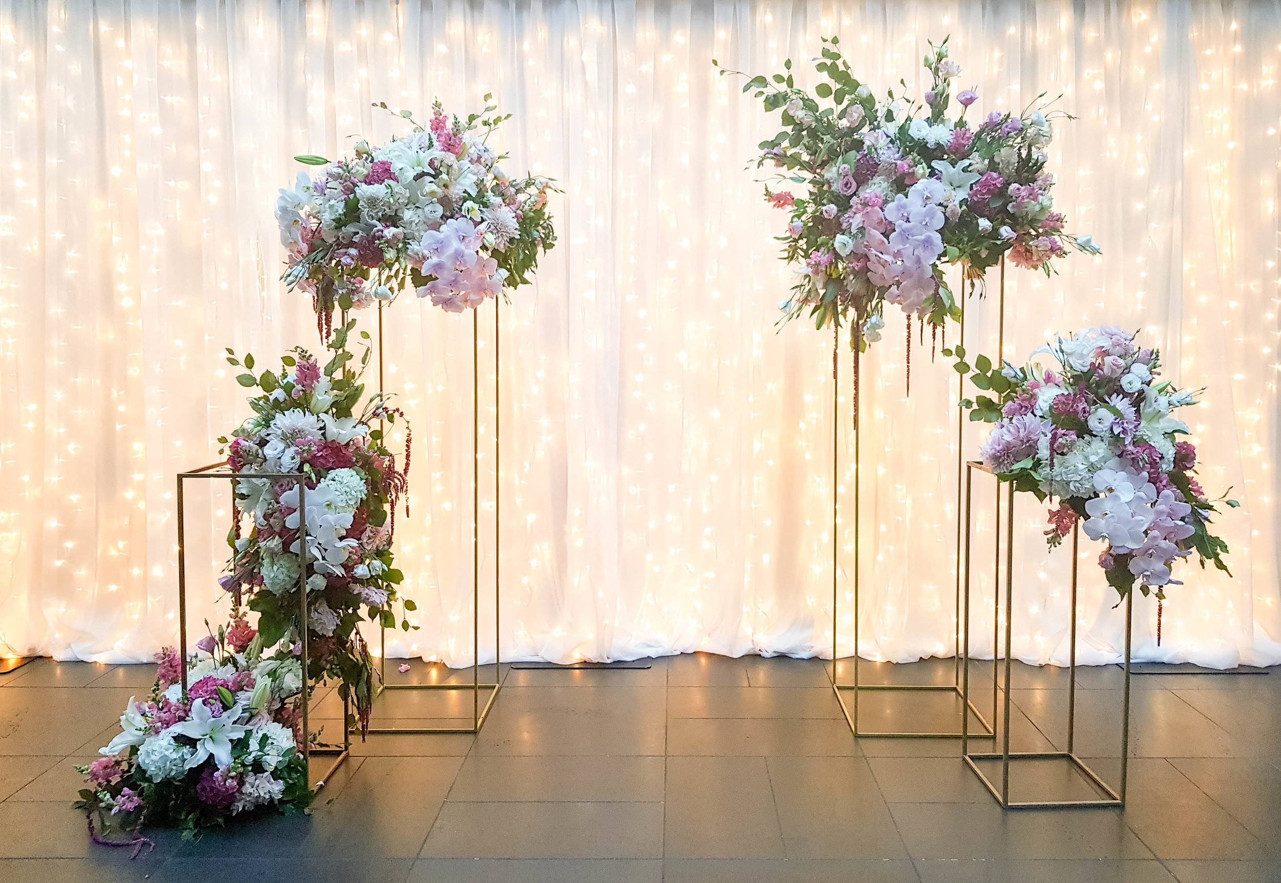 Wedding backdrops are a great option if you are a bride or groom that wants to pull focus the entire night! -