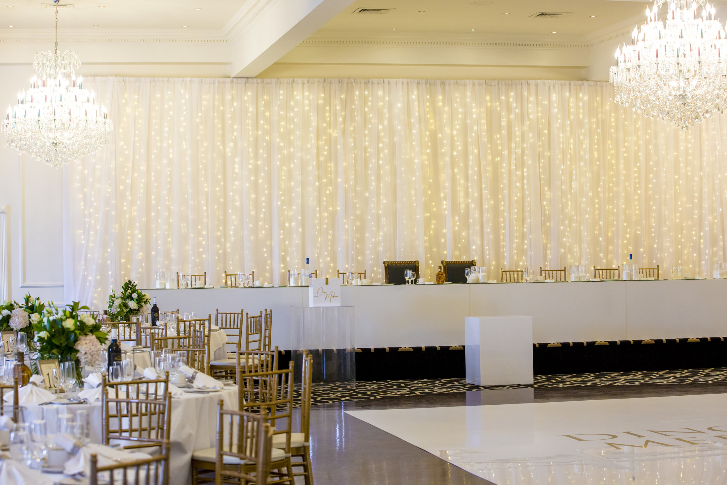 They wanted a wedding reception that had all the bells and whistles, and boy! Did they do it the right way. -