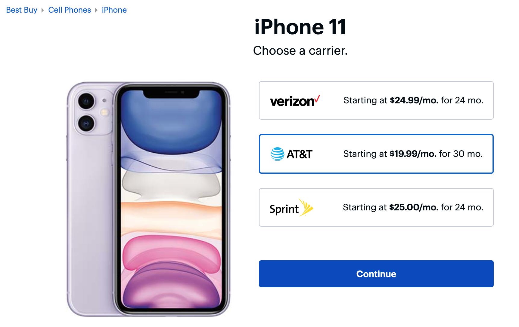 Best Buy iPhone Plans