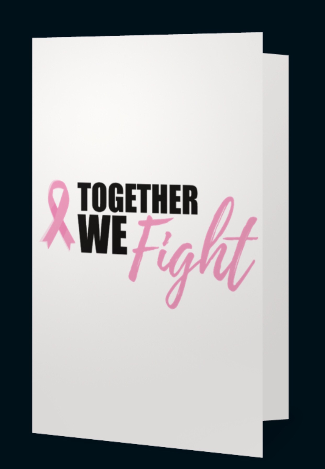 Together We Fight Advocate Greeting Card   2 for $5.00