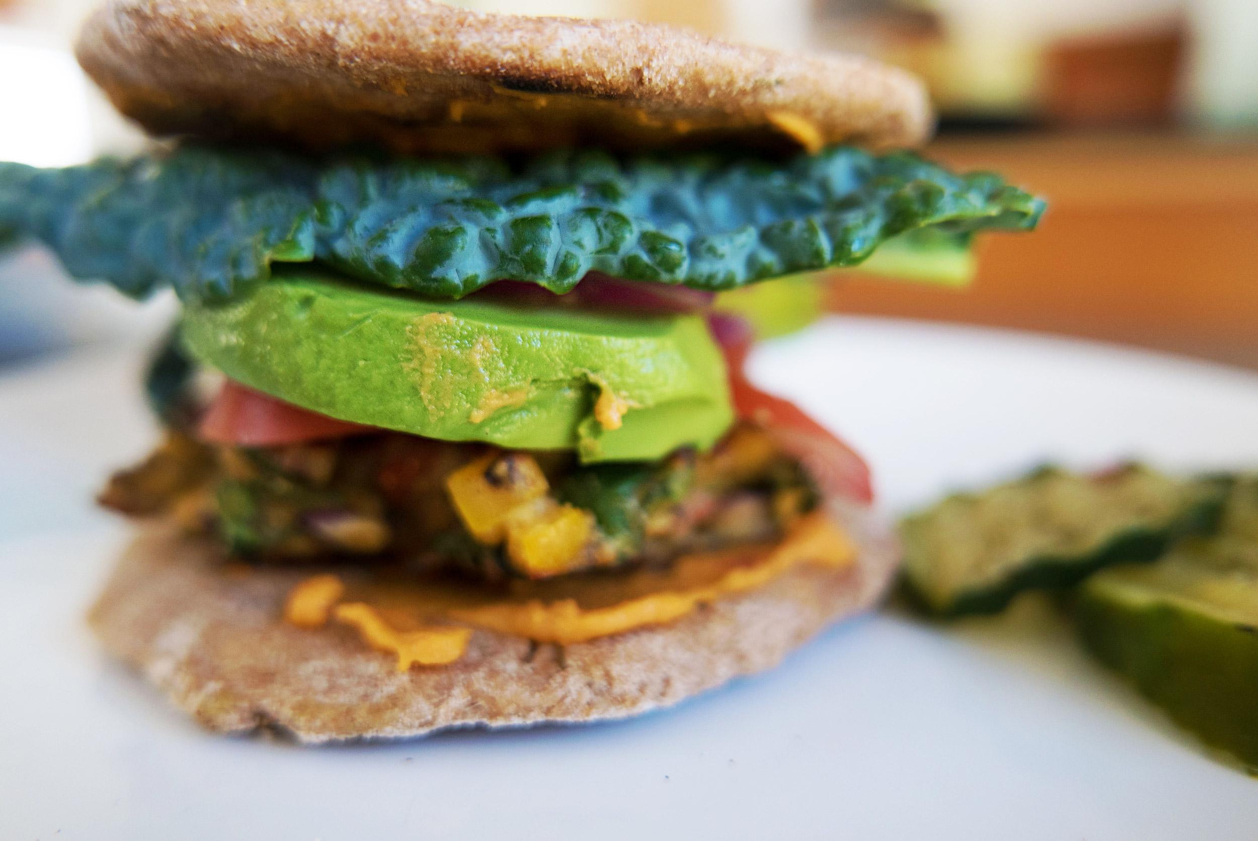 Monday - Teff | Burgers | Quinoa + Avo