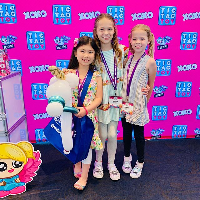 It was a dream come true for Melody to meet Addy & Maya @tictactoyfamily! They are one of her favorite YouTube families to watch, and we're so excited for their new XOXO toy line! #sweetsuite19 #tictactoy #toys #tictactoyfamily #XOXOfriends #XOXOhugs #newtoys2019 #collectibles #toycommunity #melodystreasurebox