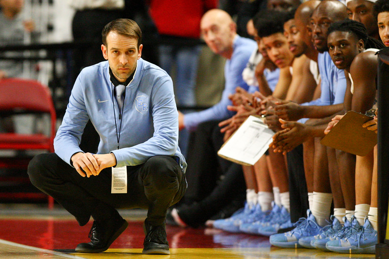 Coach O'Connell assessing his team's play in the state semifinals.  Photo Credit: The Sentinel