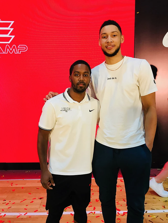 Marcus Hodges and Ben Simmons at a Nike camp in China.  Photo Credit: @marcushodges1 IG
