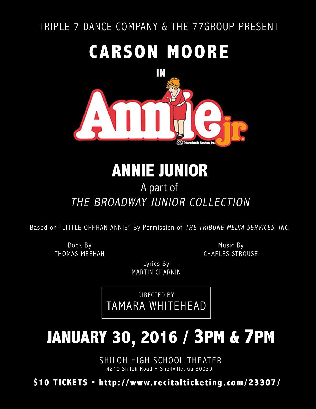 Annie Jr - January 2016