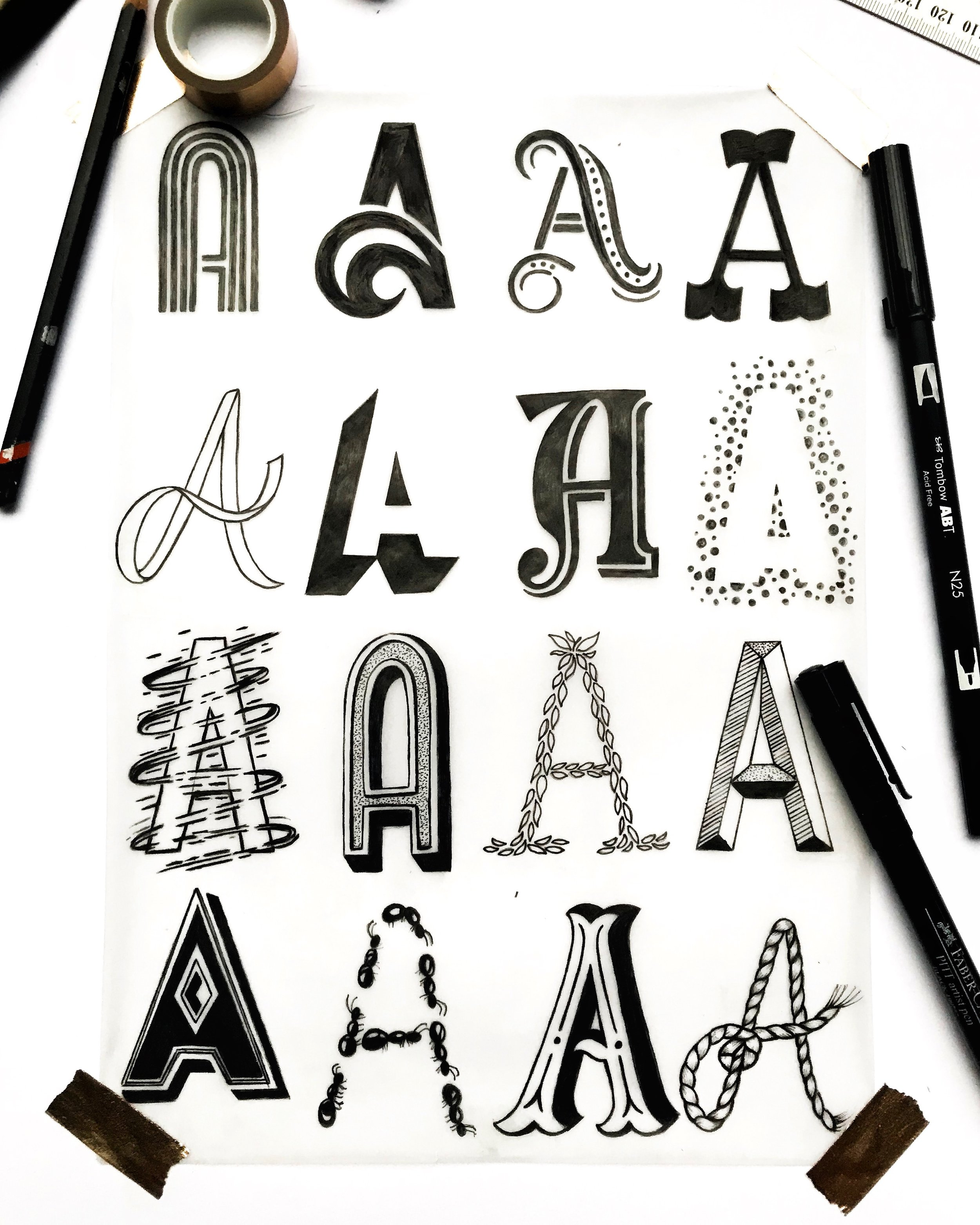 Pen on paper // Sydney, Australia