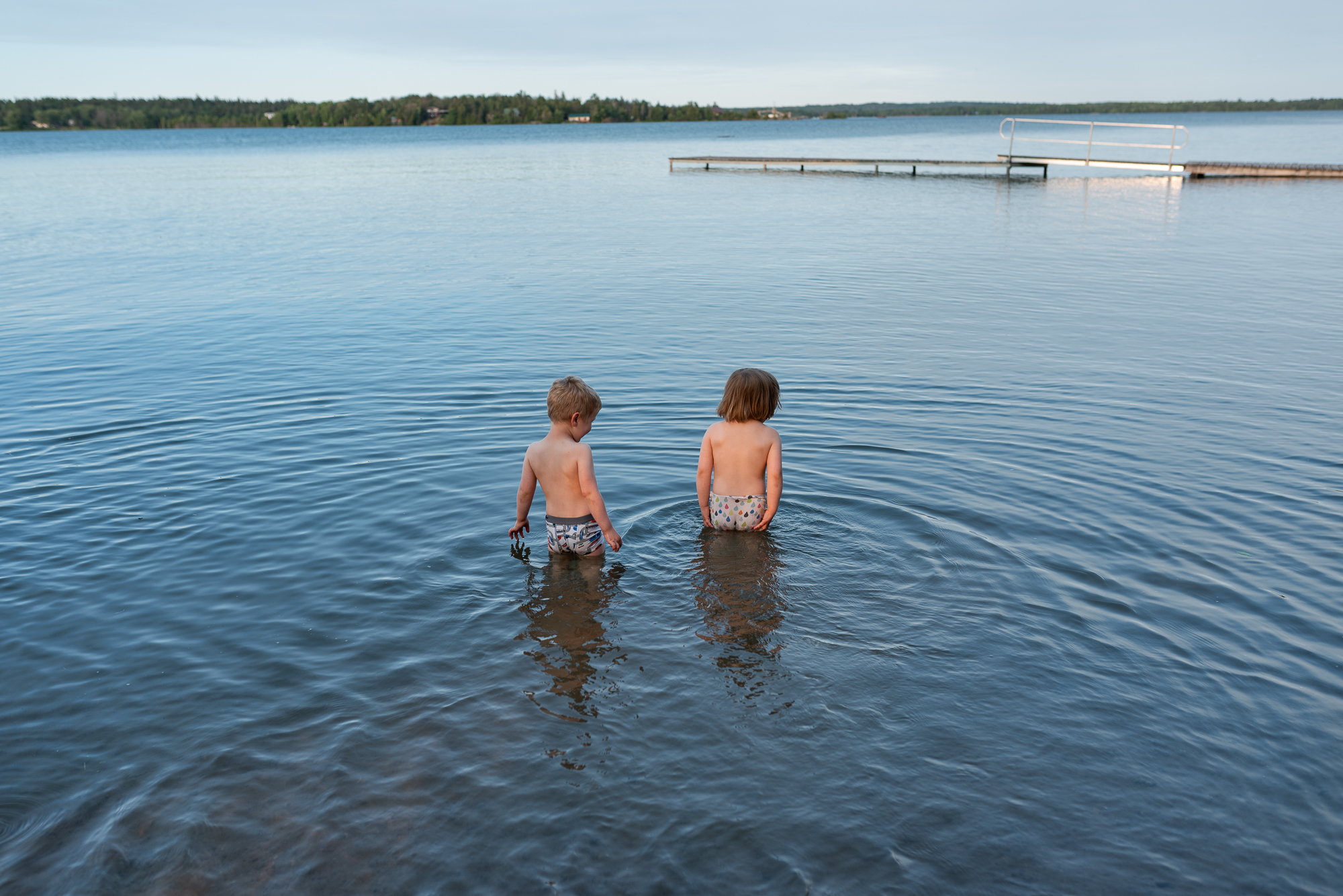 children learning to swim ontario