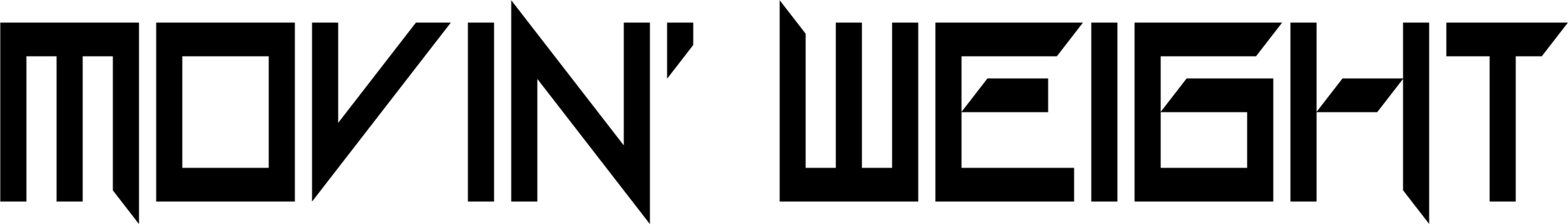 Movin Weight logo black
