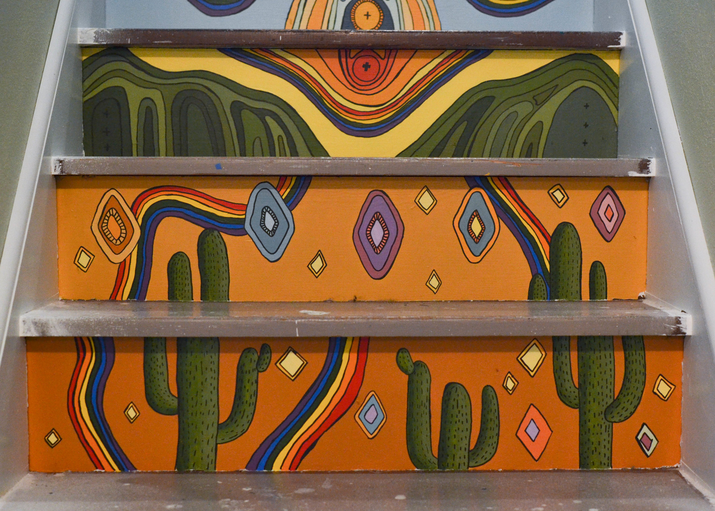 Mural on stairs - A magical, Arizona themed mural