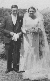 Mavis with her husband Edgar on their wedding day