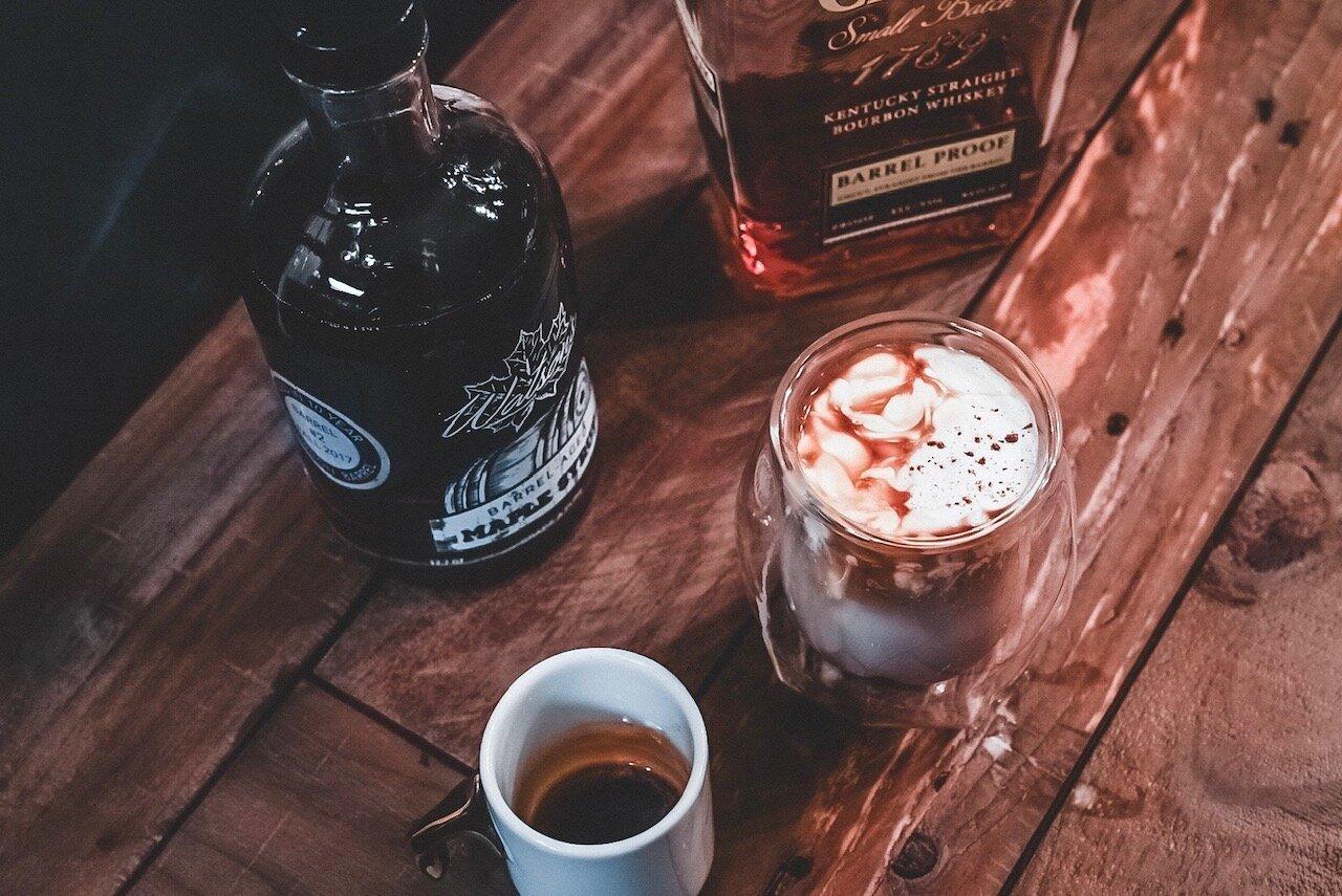 {Rusty Milk Punch} - - 3 oz milk- 1 small shot of Espresso- Splash of vanilla extract- 1.5 oz Bourbon (Elijah Craig barrel proofDrizzle Watson's Barrel Aged Maple Syrup with Cinnamon garnishStir onceRecipe & Photo: Michael Inglima
