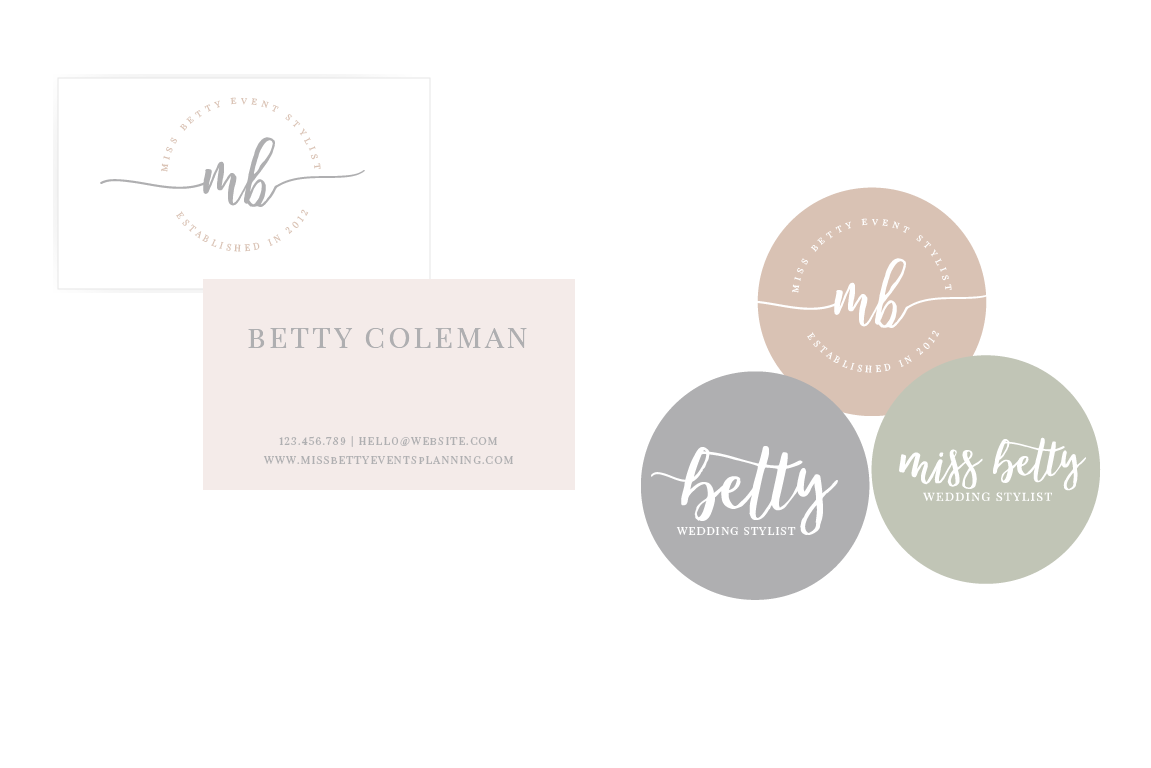 Business cards and stickers