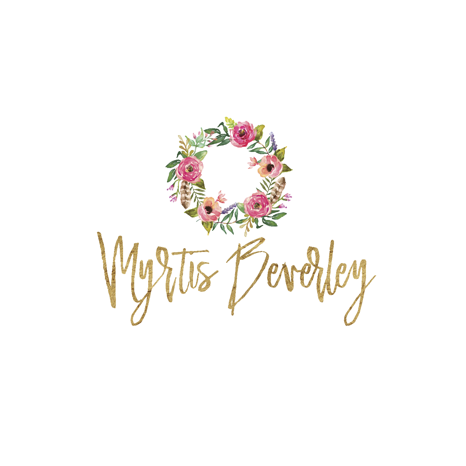 gold and pink logo branding kit premade logo boutique-01.png