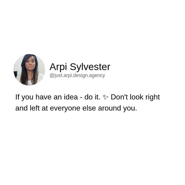 "🌈 ""Put your head down & work as hard as you can, because there is always someone better out there.""⁣ 🌈 ⁣.⠀ I was talking to a friend of mine the other day. She was going down a long list of different Instagram and Facebook users - asking if I had heard of any of these people (all of which were other kick-ass SMM or entrepreneurs). ⁣👇🏻⁣⠀ ⁣. I repeatedly shook my head 'no.' I started to feel insecure every time I said ""no, I don't know that person."" 🤷🏼‍♀️ I couldn't stop thinking about it. I thought, maybe I was 'out of the loop,' or not paying close enough attention the others around me. ⁣⠀ ⁣. Then it dawned on me. ⁣⠀ ⁣.⠀ I don't NEED to focus on everyone else. It's a huge reason I stay confident in my brand and services. Do I support other women and men in my industry? Oh hell, yeah. BUT. I'm not here to look at how everyone else is doing things. ⁣👀⁣⠀ ⁣.⠀ And you shouldn't be either. ⁣🙅🏼‍♀️⁣⠀ ⁣.⠀ ▪️You don't have to offer the same program. ⁣⠀ ▪️Your posts don't need to be just like the top leader in your industry.⁣⠀ ▪️Your services don't need to match your competitors.⁣⠀ ⁣.⠀ If you have an idea - do it. ✨ ⁣.⠀ Don't look right and left at everyone else around you. Did someone else already do that? Probably. People resonate with YOU - not your brand or services. ⁣.⠀ Be CONFIDENT that you have what it takes, without comparing yourself and your business to others. ⁣⠀ ⁣.⠀ ⁣⠀ ⁣Now go kill your week, friends. 🤜🏻🤛🏻⁣"