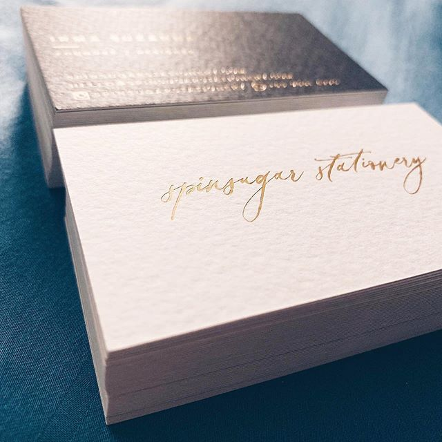 Really happy with these new cards! Keepin it simple with gold and dark grey . . . #graphicdesign #graphicdesigner #businesscards #supportsmallbusiness #singapore #minimalist #foilstamping #hotfoilstamping #gold #igsg #branding #identity