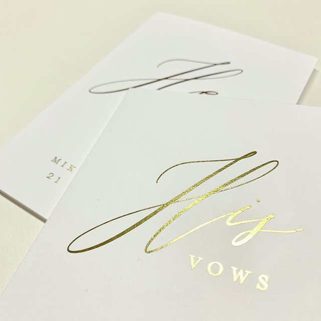 Custom gold foil vow cards for my clients who will be getting hitched in sunny California in the summer 🌸☀️🌿 . . . #weddinginvitations #wedding #weddings #weddingplanning #weddingplanner #weddingstationery #weddinginspiration #weddingvows #weddinginvitation #destinationwedding #romance #bridestory #bride #love #botanical #vintage #bridebook #instawedding #sgwedding #instawedding #igsg #floral #graphicdesign #invitations #goldfoil #foilstamping #weddinginspo