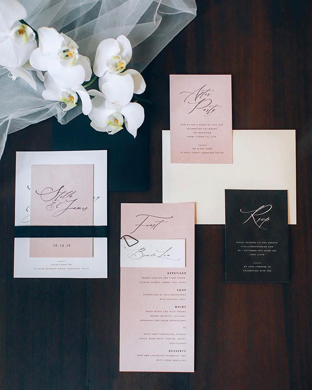 Grateful for the opportunity to be part of an elegant and modern styled shoot by @singaporebridesweddings alongside such talented vendors! . . . . . Publisher: @singaporebridesweddings Venue: @thealkaffmansion Photographer: @annabellawproductions Videographer: @iriswavefilms Gown: @divinebrides Styling: @thejoytroopers Floral Styling: @lizflorals Desserts: @bloomsburybakers Hair and makeup: @makeupmaestrowedding Invitations: @spinsugarstationery Tiffany chairs and lanterns: @1pixies Model: @rachelwongggg . . . . . . #weddings #weddinginspo #wedding #instawedding #weddinginvitation #weddingplanner #weddingday #weddingplanning #weddinginspo #weddingseason #art #sgwedding #stationery #instawedding #weddingdetails #invite #envelopes #bride #engaged #instaart #instagood #love #papergoods #etsy #weddingideas #invitations #stationery #modernwedding #sgbrides #singaporebrides #bridebook #minimalist