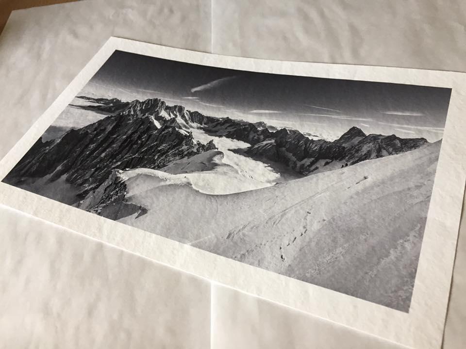 Aguille Du Midi. Printed on Hahnemühle 285gsm Torchon paper