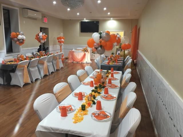 Orange Party Decor