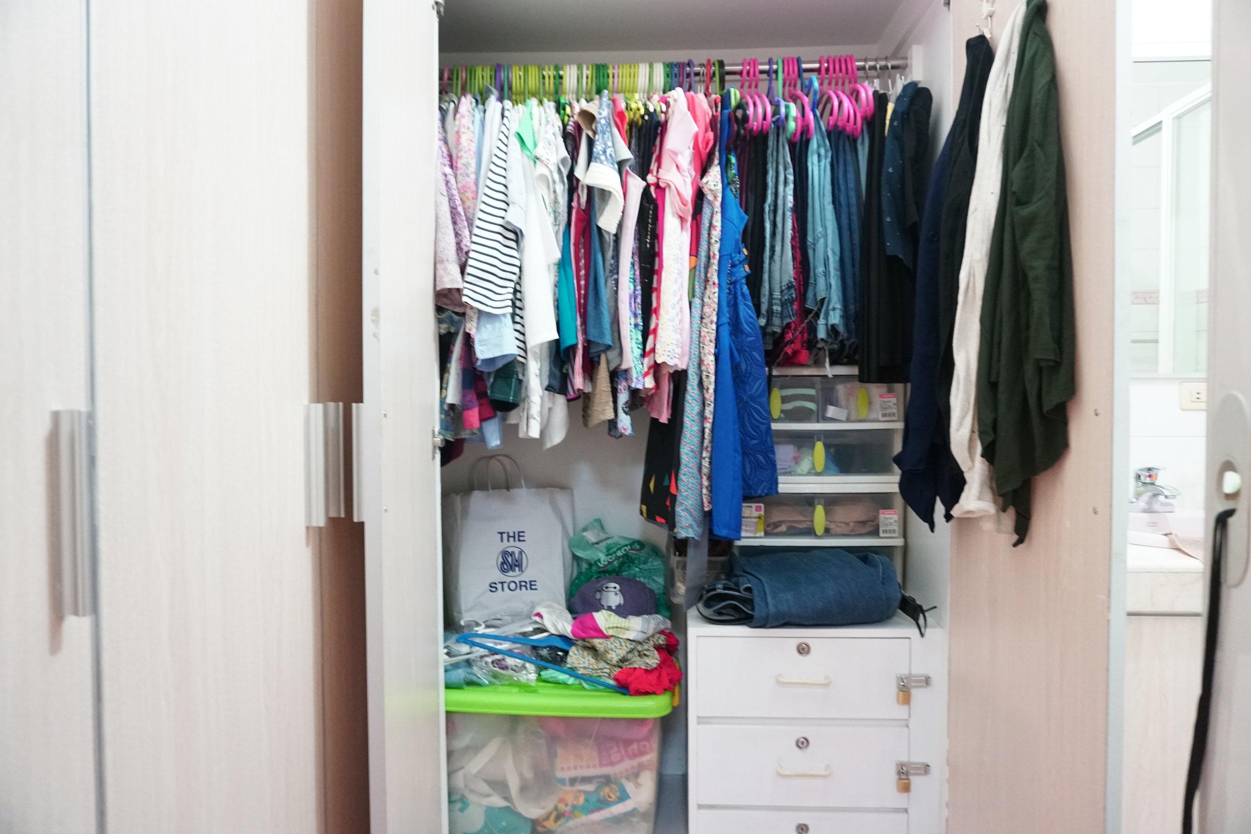 BEFORE - Stuffed Closet