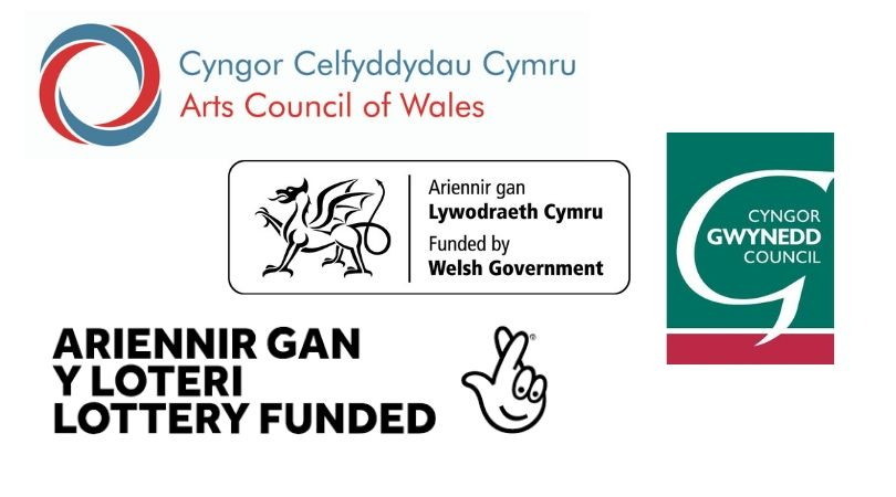 Cefnogir  Cyngor Celfyddydau Cymru  a  Cyngor Gwynedd  prosiectau OPRA Cymru