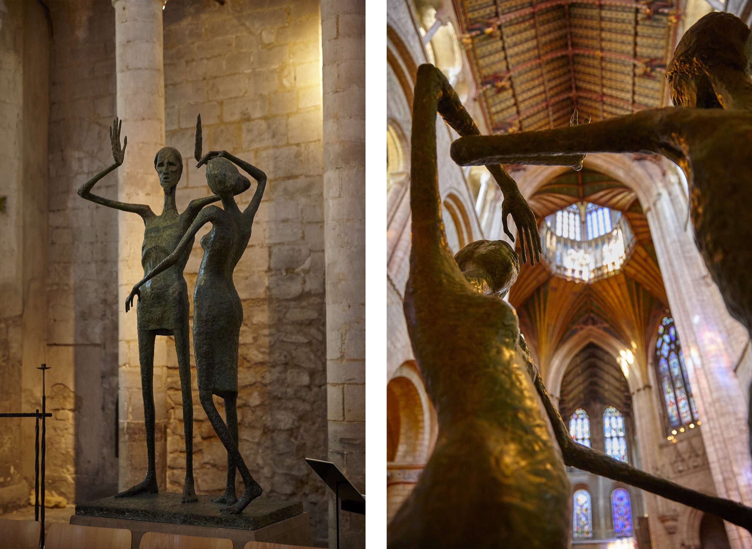 ENCOUNTER  by    David Wynne   This striking sculpture is one of many beautiful works of art on display in Ely Cathedral