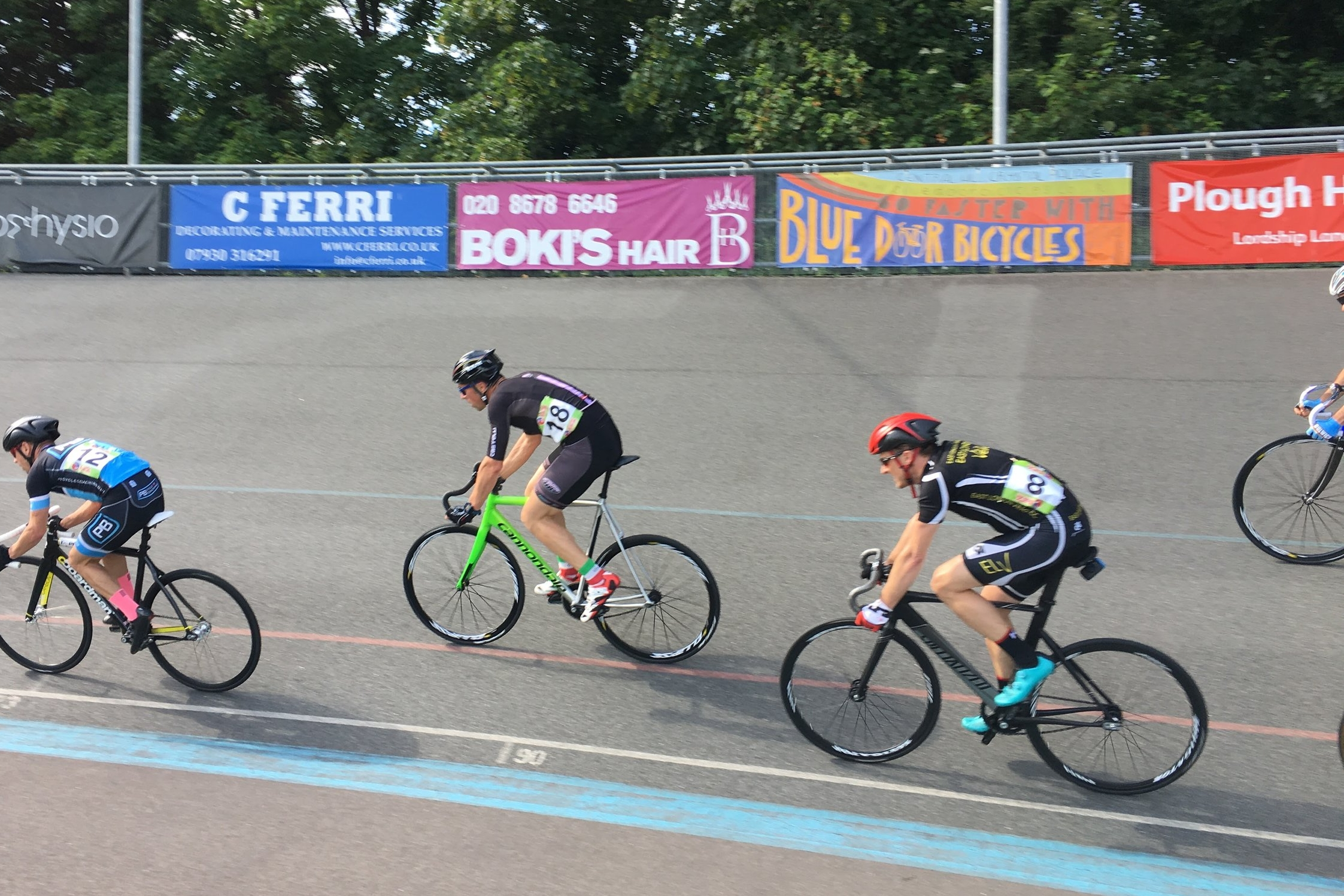 That's me with #18 during my first Track race at Herne Hill Velodrome