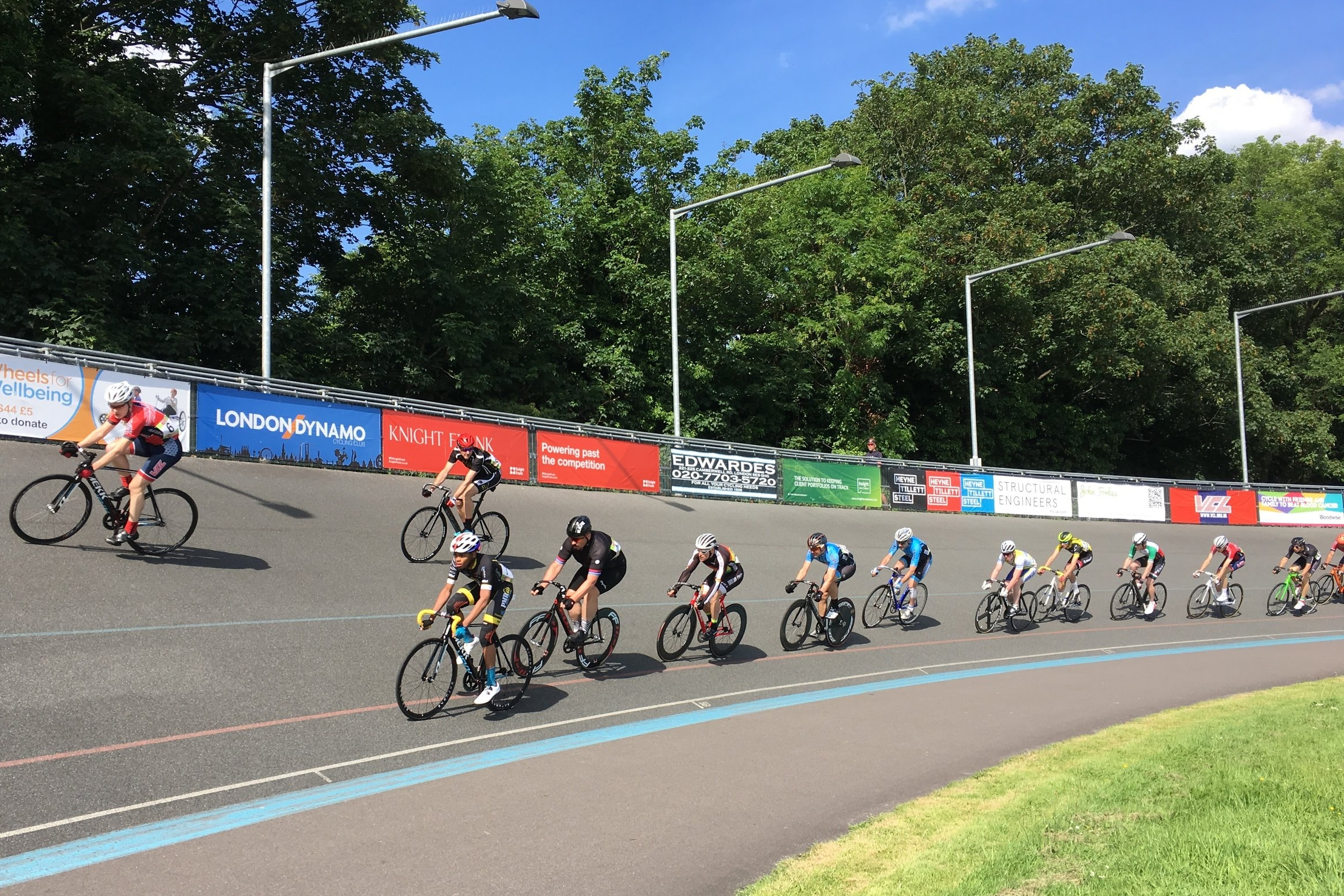 Track racing (10km race) at Herne Hill Velodrome