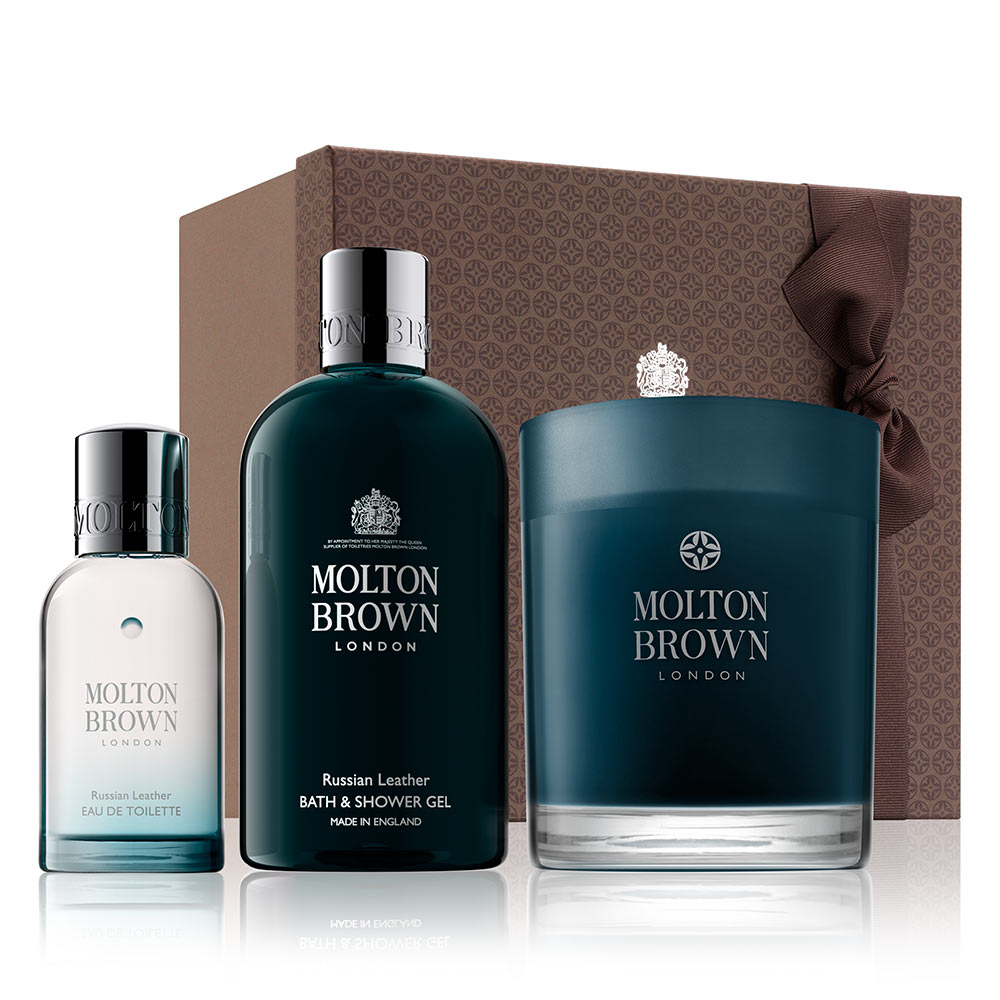 Russian Leather Body &Home Fragrance Gift Set