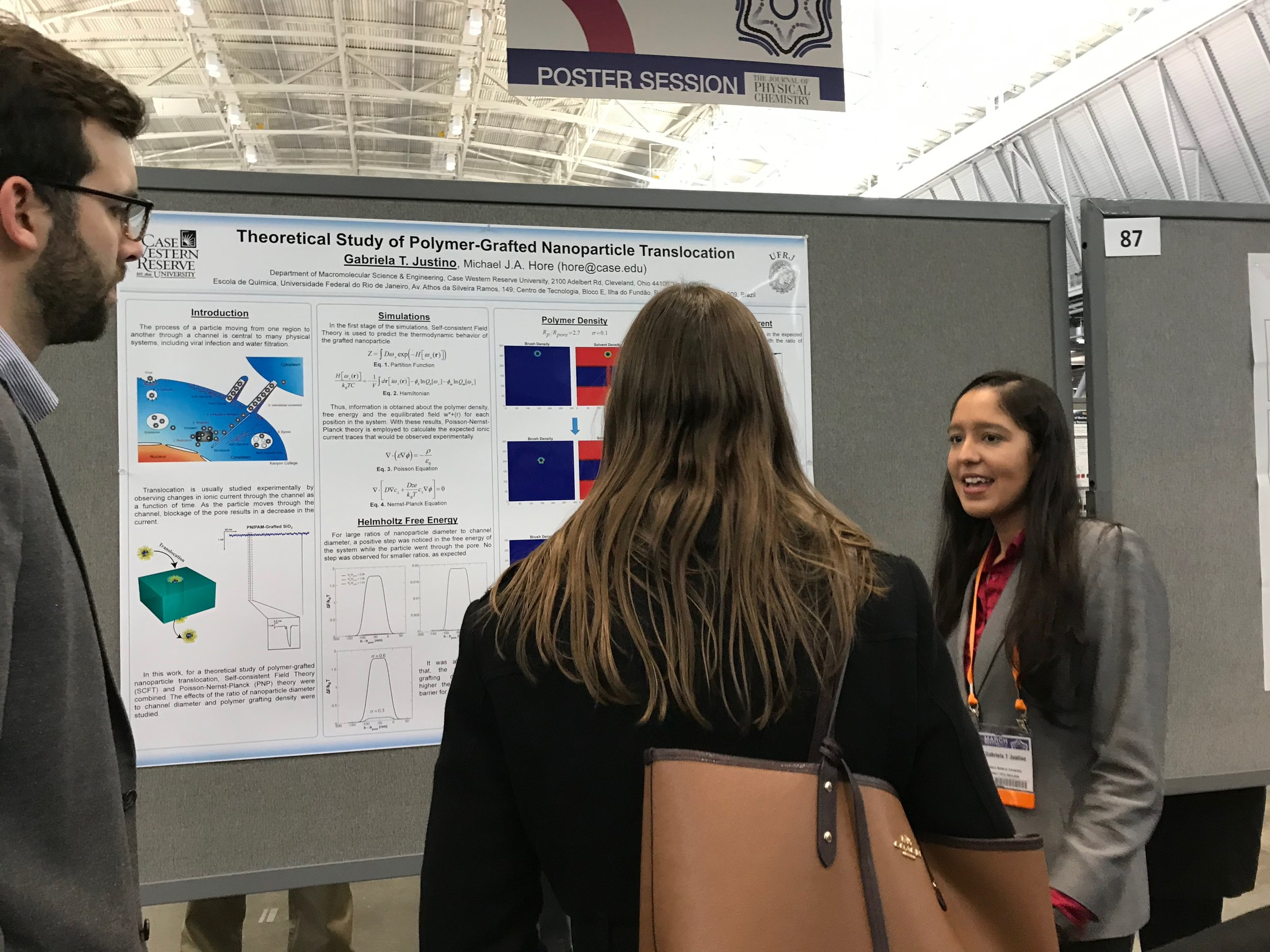 2019 APS March Meeting - Boston, MAGabriela Justino presents her research poster.