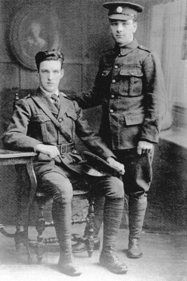 Tommy (right) and his brother, John S. O'Connor, in Volunteer uniform
