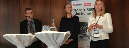 Åke Iverfeldt, CEO at Mistra, Cecilia Repinski, SGDF, Erika Wranegård, fund manager at Öhman  were moderated in a panel by Erik Wahlin of Affärdvärlden.