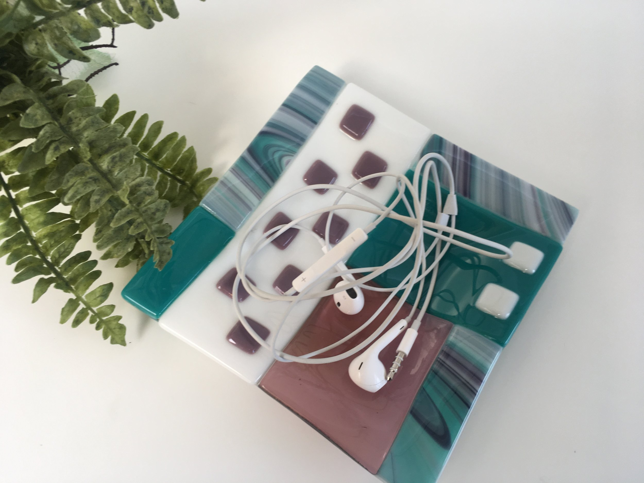 Headphones holder!?  Sea green, with pale grape, part of Graphics collection